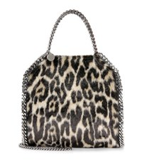 Stella Mccartney Falabella Mini Faux Fur Tote Multicoloured