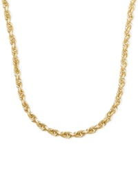Macy's 3Mm Rope Chain 22' Necklace In 14K Gold