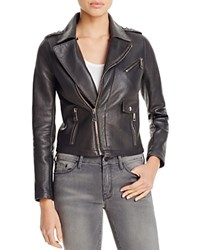 Maje Bluffin Leather Moto Jacket 100 Bloomingdale's Exclusive Anthracite