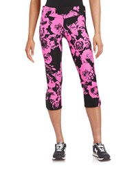 Kensie Floral Stretch Leggings Pink