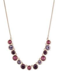 Nine West Stone And Crystal Collar Necklace Gold