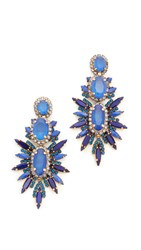 Elizabeth Cole Carmella Earrings Blueberry Blue