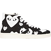 Comme Des Garcons Play Men's Heart Print Pro Sneakers Black Blue Black Blue
