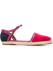 Lanvin Ankle Strap Espadrilles Pink And Purple