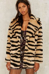 Jakke Heather Faux Fur Tiger Coat Animal