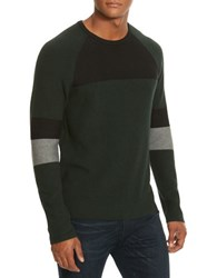 Kenneth Cole Colorblock Crewneck Sweater Juniper