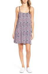 Billabong Women's 'Cosmic Dreamer' Print Slipdress Blue Tide