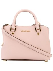 Michael Michael Kors Medium Structured Tote Pink And Purple