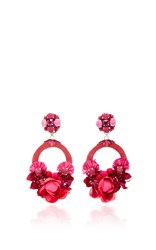 Ranjana Khan Pink Large Floral Drop Earrings