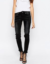 Noisy May Lucy Slim Studded Jeans B 24 Black