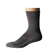 Icebreaker Hike Light Crew 1 Pair Pack Twister Heather Men's Crew Cut Socks Shoes Gray