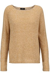Theory Lalora Linen And Cashmere Blend Sweater Mustard