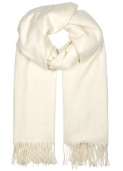 Johnstons Of Elgin Ivory Cashmere Scarf White