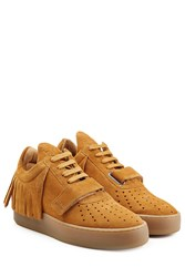 Filling Pieces Caribo Suede Sneakers With Fringe Brown