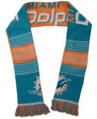 Forever Collectibles Miami Dolphins Reversible Split Logo Scarf