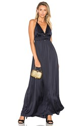 Loveshackfancy Braided Love Maxi Dress Navy