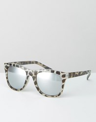 Cheap Monday Flat Top Sunglasses In Tortoise With Mirror Lens Sand Brown