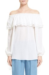 Women's Michael Kors Off Shoulder Peasant Blouse Optic White