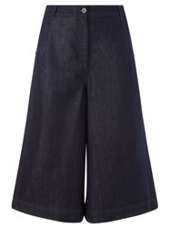 Collection Weekend By John Lewis Denim Culottes Mid Blue