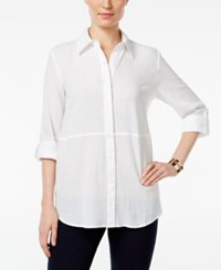 Styleandco. Style Co. Roll Tab Shirt Only At Macy's Bright White