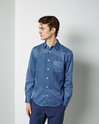 Blue Blue Japan Big Circle Cutover Shirt Blue
