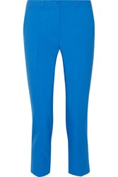 Michael Kors Collection Samantha Cropped Stretch Wool Skinny Pants Azure