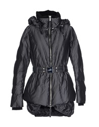 High Down Jackets Dark Brown
