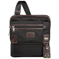 Tumi Annapolis Zip Flap Messenger Bag Black