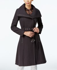 Bcbgeneration Asymmetrical A Line Walker Coat Slate