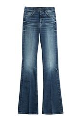 7 For All Mankind Seven For All Mankind High Waisted Flared Jeans Blue