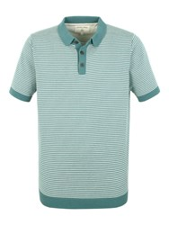 Racing Green Cooper Knitted Short Sleeve Polo Green