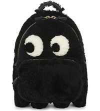 Anya Hindmarch Ghost Shearling Backpack Black