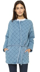 Maison Scotch Quilted Jacket Chambray