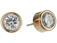 Michael Kors Park Avenue Glam Stud Earrings Rose Gold 1 Earring Orange