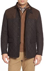 Men's Hart Schaffner Marx 'Shooter' Wool Blend Quilted Jacket Espresso