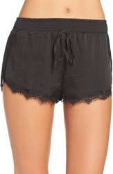 Band Of Gypsies Women's Lace Trim Shorts Black