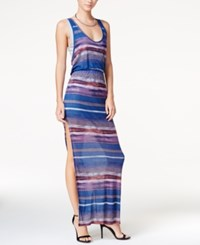 Chelsea Sky Printed Layered Maxi Dress Only At Macy's Dark Multi