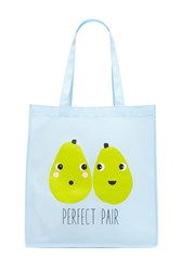 Forever 21 Perfect Pair Eco Tote Baby Blue Multi