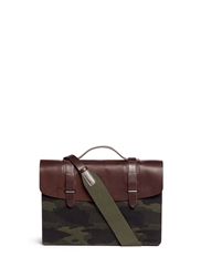 Seventy Eight Percent 'Dimitri' Medium Camouflage Canvas Satchel