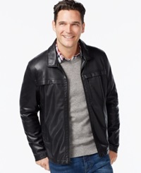 Kenneth Cole Smooth Faux Leather Hipster Jacket