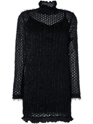 Carven Lace Overlay Dress Black