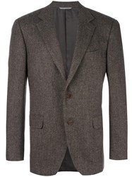 Canali Two Button Blazer Brown