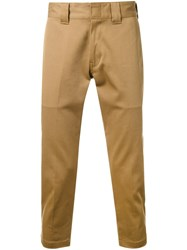 Bedwin And The Heartbreakers Slim Fit Cropped Trousers Brown