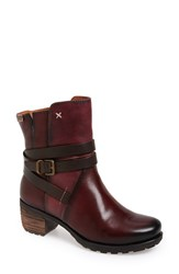 Pikolinos Women's 'Le Mans' Strappy Boot Garnet Leather