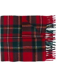 Polo Ralph Lauren Plaid Scarf Red