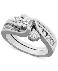 Macy's Certified Diamond Bridal Set Ring In 14K White Gold 1 Ct. T.W.