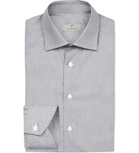 Canali Hopsack Regular Fit Cotton Shirt Mono