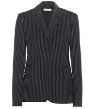 Altuzarra Striped Wool Jacket Blue