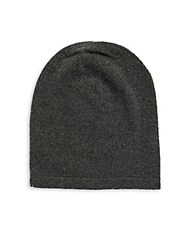 Saks Fifth Avenue Slouchy Cashmere Beanie Charcoal