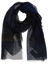 Pierre Louis Mascia Pierre Louis Mascia Plaid Scarf Blue